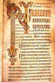 Beginning of a Latin Gospel of Mark, Book of Durrow (7th century).